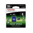 CARTÃO TOSHIBA MICRO SD 8GB CLASS 10 UHS-I ALTA CAPACIDADE COM ADAPTADOR SD