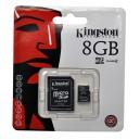 CARTÃO KINGSTON Micro SD card 8GB Alta Capacidade com adaptador SD