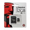 CARTÃO KINGSTON MicroSDHC 32GB C/ADAPTADOR SD