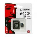 CARTÃO KINGSTON MicroSDHC 64GB C/ADAPTADOR SD