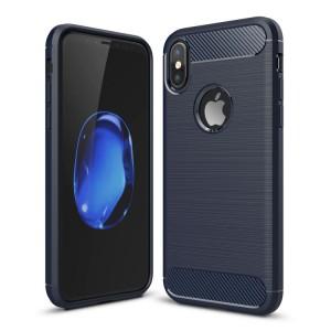 Capa Carbon iPhone X Azul
