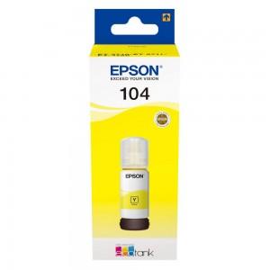 Recarga de Tinta EPSON 104 Amarelo (65ml) - EcoTank 2710/2711/2712/2714/ 2720/2721/2726/4700